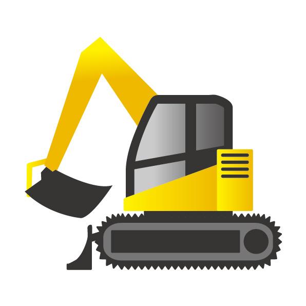 パワーショベルは、とび・土工工事業で活躍するだけでなく、経営事項審査でも点数アップ要素になります。